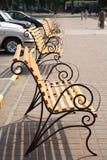 переулок benches супермаркет Стоковое Изображение RF