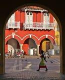 Переулок Cartagena, Колумбия Стоковое Изображение RF