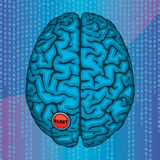 Переустановите ваш мозг Иллюстрация вектора