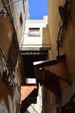 Переулки рынка Fez, Марокко Стоковые Изображения