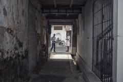 Переулки mattanchery Кералы Стоковое Изображение