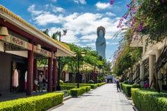 Переулок в виске Nanshan стоковые изображения rf