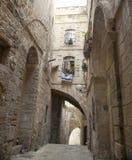 Старый переулок Иерусалима Стоковое Фото