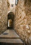 Старый переулок Иерусалима Стоковая Фотография