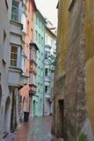 Переулок в Инсбруке, Европе Стоковые Фотографии RF