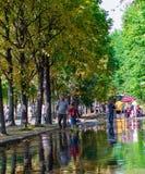 Переулок в парке Gorky в Москве Стоковое Фото