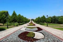 Переулок в парке Tsaritsyno Стоковое Изображение