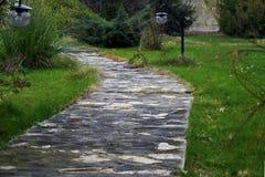 Переулок в саде Стоковые Изображения RF