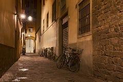 Переулок в старом городке Стоковые Изображения