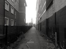 Переулок в черно-белом Стоковое Фото
