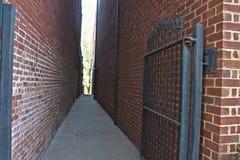 Переулок в Warrenton, Вирджинии Стоковая Фотография RF