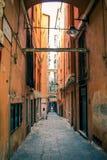 Переулок Генуи Стоковое Изображение