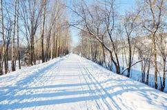 Переулок зимы Стоковое Изображение RF