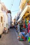 Переулок на острове, Греции Стоковое Изображение