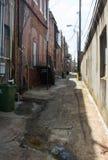 Переулок дневного времени города Стоковое фото RF