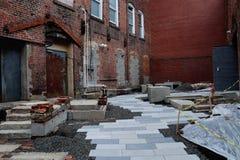 Переулок под конструкцией Стоковая Фотография RF