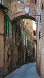 Переулок Сиена Италия Стоковая Фотография RF