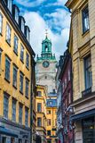 Переулок Стокгольма Швеции Стоковые Фото