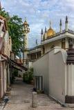 Переулок с взглядом мечети султана Masjid Стоковое Изображение RF