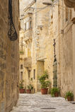 Переулок Backstreet в Birgu Мальте Стоковое Фото