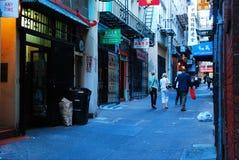 Переулок Ross, Чайна-таун Стоковое Изображение RF