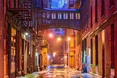 Переулок Tribeca в Нью-Йорке Стоковая Фотография RF