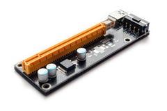 Переходник или рослость PCI-E для минировать на видеокартах Стоковые Фото
