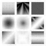 Переходы полутонового изображения установили для предпосылок и фонов дизайна в ретро и винтажном стиле бесплатная иллюстрация