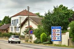 Переход границы к Франции Стоковое Фото