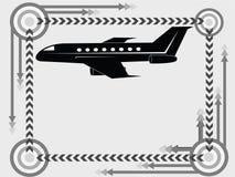 переход иконы самолета Стоковое Изображение
