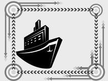 переход корабля иконы Стоковое Изображение