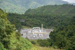 переход места трубы газа естественный Стоковые Изображения RF
