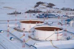 переход станции нефтепровода Стоковое Изображение