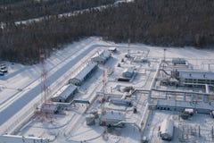 переход станции трубопровода Стоковые Фото