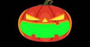 Переход тыквы хеллоуина видео- сток-видео