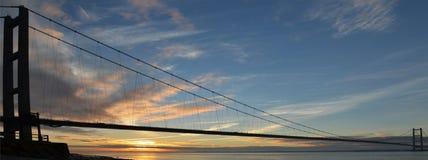 Переход через реку Кингстона моста Humber на корпусе Стоковые Изображения RF