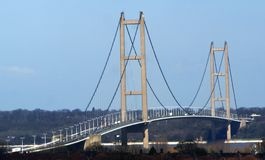 Переход через реку Кингстона моста Humber на корпусе Стоковые Фотографии RF