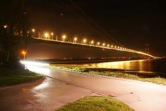 Переход через реку Кингстона моста Humber на корпусе Стоковые Изображения