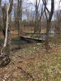Переход через реку стоковое изображение