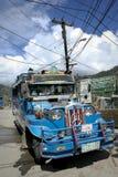 переход philippines цветастого jeepney местный Стоковые Фотографии RF