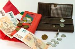 Переход денег между портмонами Стоковое Изображение