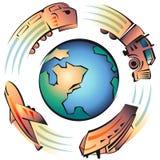 переход загрязнения Стоковое Изображение