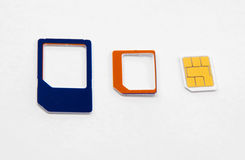 Переходник карточки Sim стандартный микро- nano Стоковое Изображение RF
