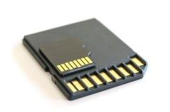 Переходник читателя карточки SD и черная память microSD Стоковая Фотография