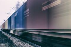 Переход поезда груза логистический Стоковые Фотографии RF