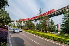 Переход рельса Чунцина городской Стоковые Изображения