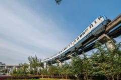 Переход рельса Чунцина городской Стоковое Изображение RF
