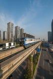 Переход рельса Чунцина городской Стоковое Изображение