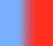 Переход сини точек красной Стоковое фото RF