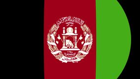Переход 4K флага Афганистана сток-видео